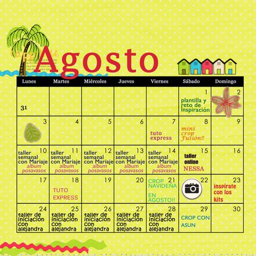 Calendario agosto 2