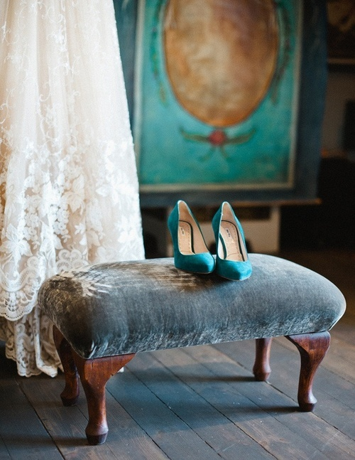 Turquoise shoes