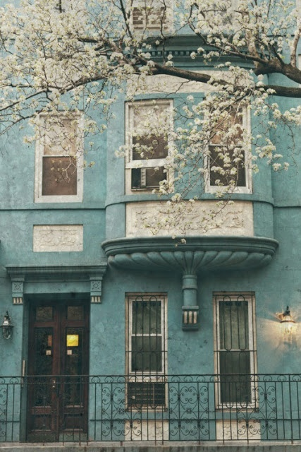 Torquoise house