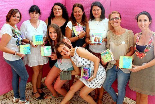 las chicas con Mireia Carbonell