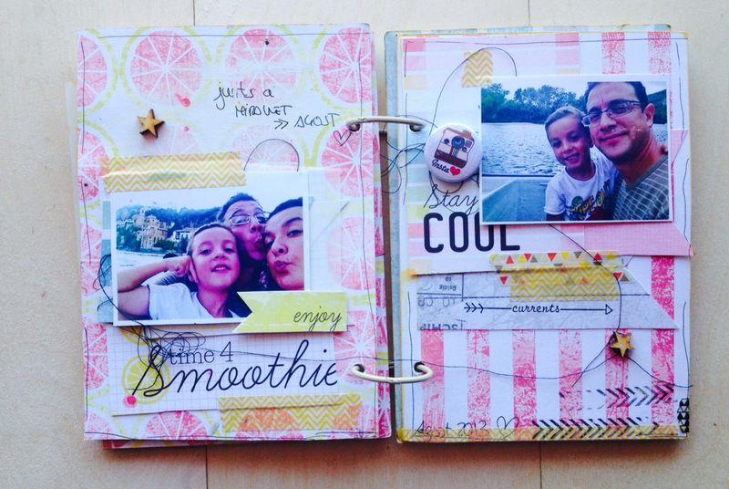 Mireia Mini Scrapbook Album 04